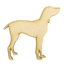 Hungarian Vizsla Craft Blank, Dog Shape Laser Cut from 3mm MDF, Card Topper